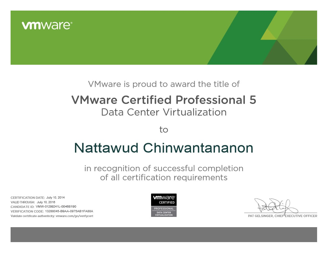 VMware Certified Professional 5